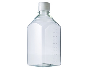 Medieflaske square 1000 ml PET