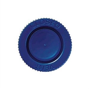 Caps for flasks Nunclon, HDPE Blue, Vent/Close, 80 cm2