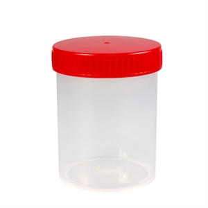 Beakers 200ml bag PS with screwcap