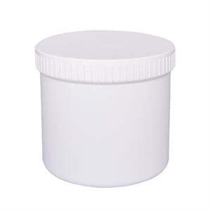 Containers 500ml 90x86mm PP with white screwcap